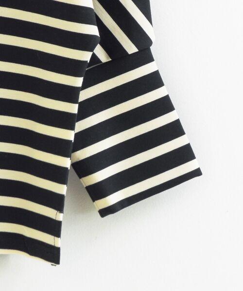 le.coeur blanc / ルクールブラン カットソー   ボーダーボリュームスリーブプルオーバー   詳細7