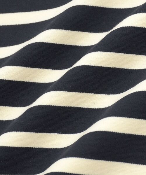 le.coeur blanc / ルクールブラン カットソー   ボーダーボリュームスリーブプルオーバー   詳細9
