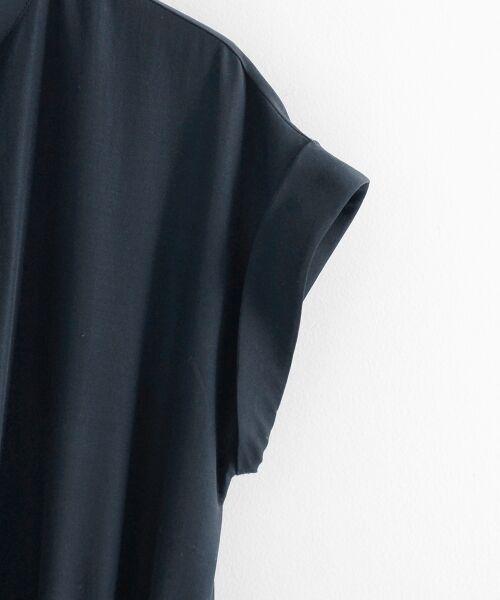 le.coeur blanc / ルクールブラン ミニ丈・ひざ丈ワンピース | イレギュラーヘムスキッパーシャツワンピース | 詳細3