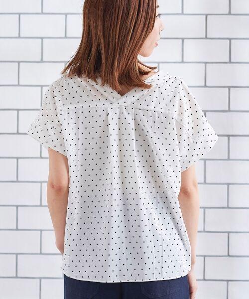 le.coeur blanc / ルクールブラン シャツ・ブラウス | ニュアンスVネックワイドスリーブシャツ | 詳細14