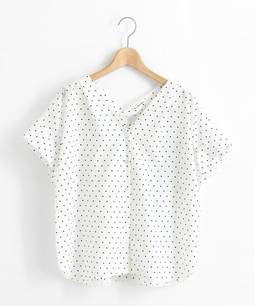 le.coeur blanc / ルクールブラン シャツ・ブラウス | ニュアンスVネックワイドスリーブシャツ | 詳細15