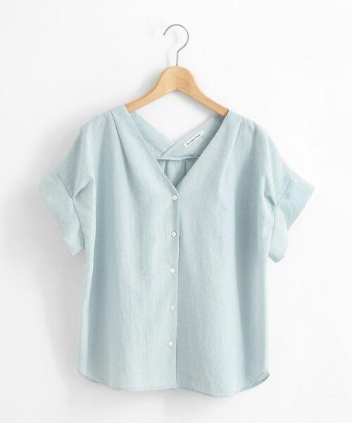 le.coeur blanc / ルクールブラン シャツ・ブラウス | ニュアンスVネックワイドスリーブシャツ | 詳細17