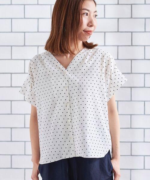 le.coeur blanc / ルクールブラン シャツ・ブラウス | ニュアンスVネックワイドスリーブシャツ | 詳細25