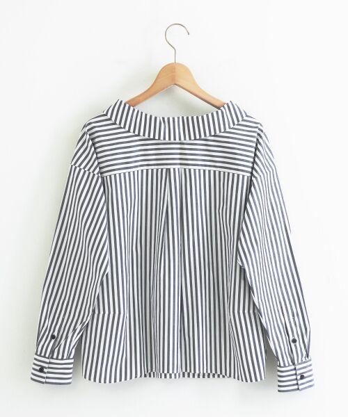 le.coeur blanc / ルクールブラン シャツ・ブラウス | 抜け衿ショールカラーシャツ | 詳細1