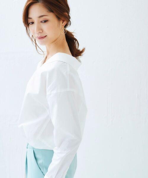 le.coeur blanc / ルクールブラン シャツ・ブラウス | 抜け衿ショールカラーシャツ | 詳細10