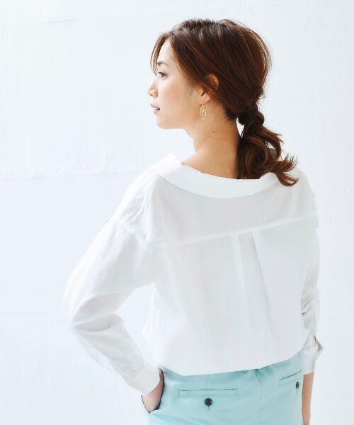 le.coeur blanc / ルクールブラン シャツ・ブラウス | 抜け衿ショールカラーシャツ | 詳細11