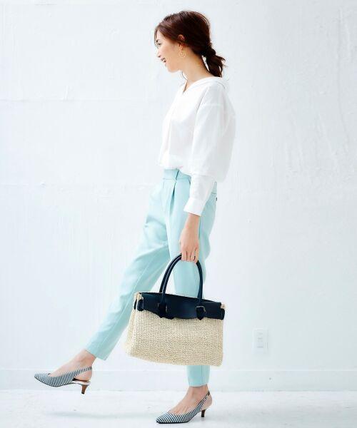 le.coeur blanc / ルクールブラン シャツ・ブラウス | 抜け衿ショールカラーシャツ | 詳細12
