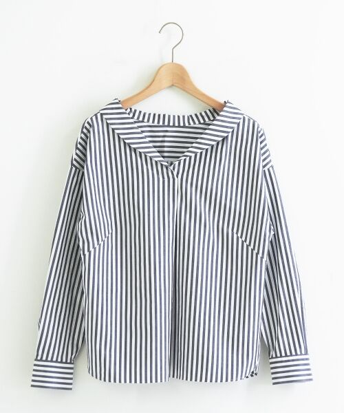 le.coeur blanc / ルクールブラン シャツ・ブラウス | 抜け衿ショールカラーシャツ | 詳細13