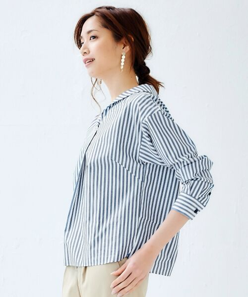 le.coeur blanc / ルクールブラン シャツ・ブラウス | 抜け衿ショールカラーシャツ | 詳細15