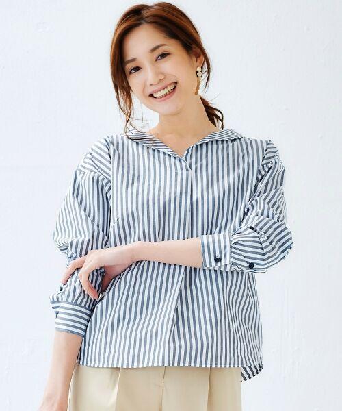 le.coeur blanc / ルクールブラン シャツ・ブラウス | 抜け衿ショールカラーシャツ | 詳細17
