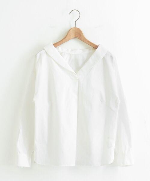 le.coeur blanc / ルクールブラン シャツ・ブラウス | 抜け衿ショールカラーシャツ | 詳細5