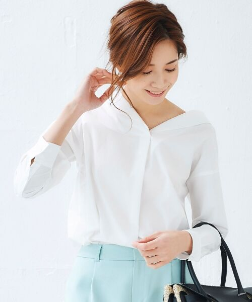 le.coeur blanc / ルクールブラン シャツ・ブラウス | 抜け衿ショールカラーシャツ | 詳細8