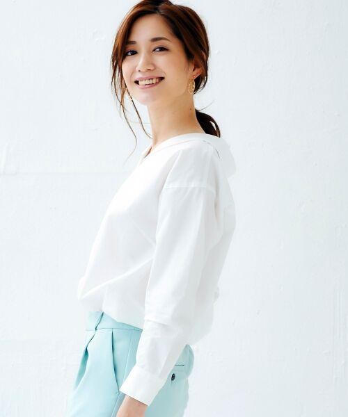 le.coeur blanc / ルクールブラン シャツ・ブラウス | 抜け衿ショールカラーシャツ | 詳細9