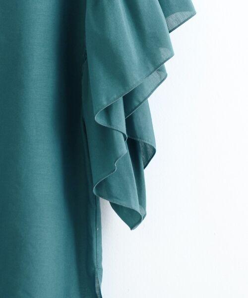 le.coeur blanc / ルクールブラン シャツ・ブラウス | 綿シルクフリルスリーブブラウス | 詳細3