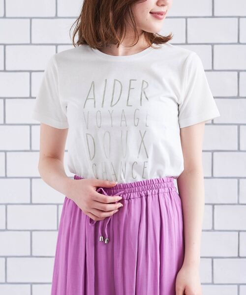 le.coeur blanc / ルクールブラン Tシャツ | メタリックプリントTシャツ | 詳細1