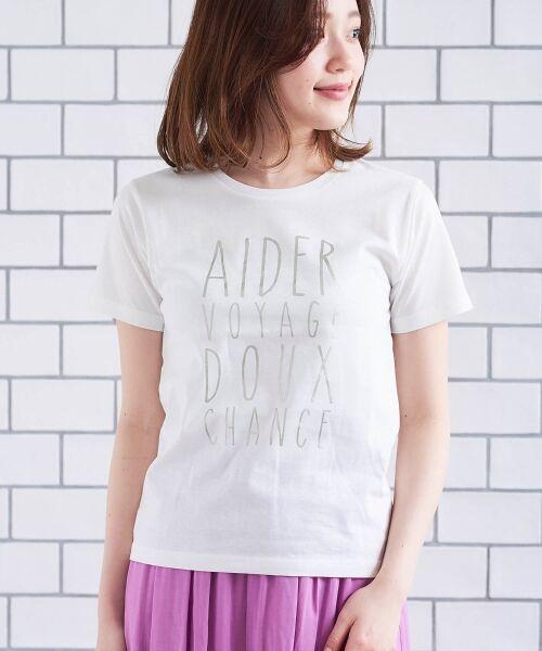 le.coeur blanc / ルクールブラン Tシャツ | メタリックプリントTシャツ | 詳細2