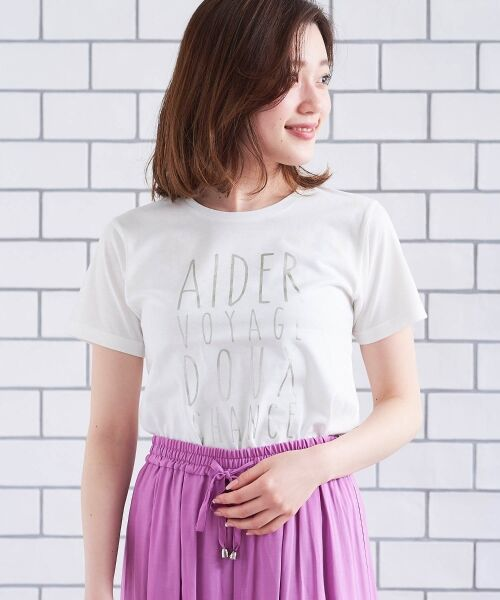 le.coeur blanc / ルクールブラン Tシャツ | メタリックプリントTシャツ | 詳細9