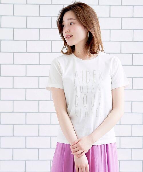 le.coeur blanc / ルクールブラン Tシャツ | メタリックプリントTシャツ(オフ)