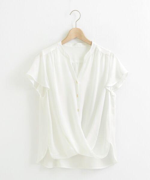le.coeur blanc / ルクールブラン シャツ・ブラウス | バーボタンカシュクールブラウス | 詳細5