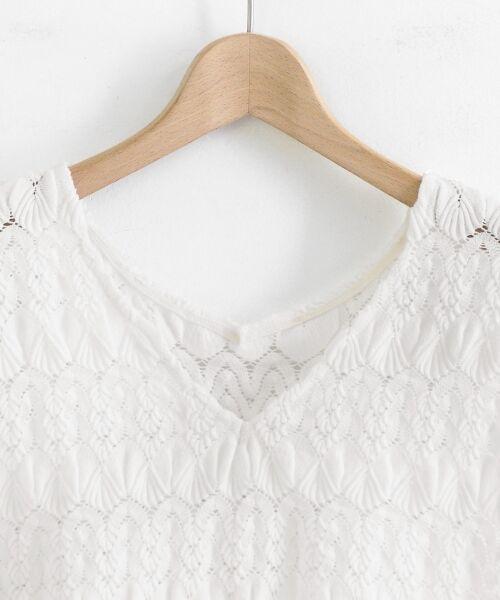 le.coeur blanc / ルクールブラン シャツ・ブラウス | バルファスレースVフレンチプルオーバー | 詳細2
