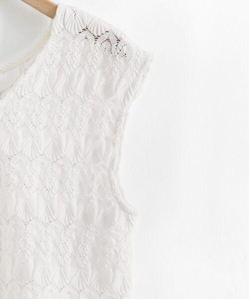 le.coeur blanc / ルクールブラン シャツ・ブラウス | バルファスレースVフレンチプルオーバー | 詳細3