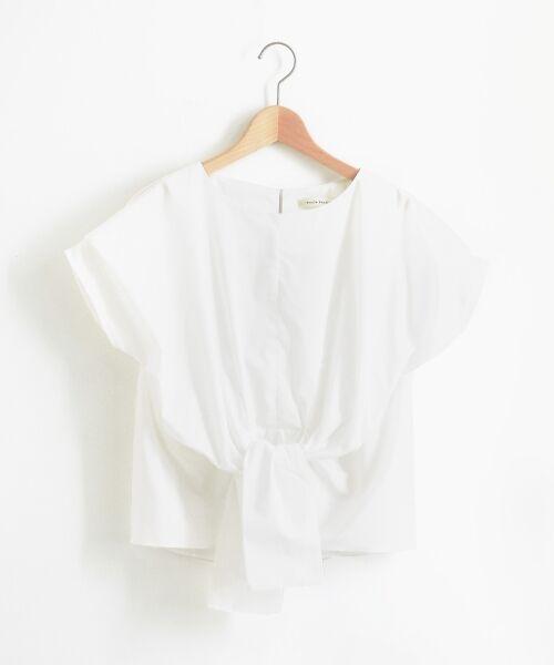le.coeur blanc / ルクールブラン シャツ・ブラウス | ブライトブロードフロントツイストブラウス | 詳細11