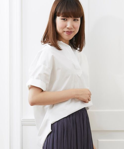 le.coeur blanc / ルクールブラン シャツ・ブラウス | 抜け襟オーバーシャツ(オフ)