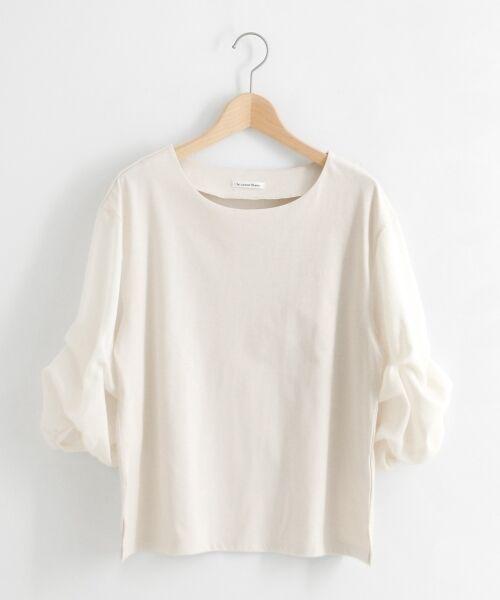 le.coeur blanc / ルクールブラン カットソー | カット×ガーゼボイル袖コンシャス6分袖 | 詳細13