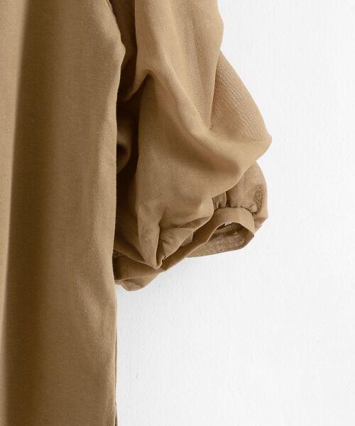 le.coeur blanc / ルクールブラン カットソー | カット×ガーゼボイル袖コンシャス6分袖 | 詳細6