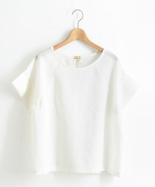 le.coeur blanc / ルクールブラン シャツ・ブラウス   リネンライクバックパーツブラウス   詳細8