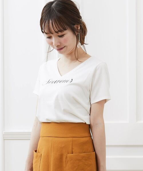 le.coeur blanc / ルクールブラン Tシャツ | VロゴプリントTシャツ | 詳細13