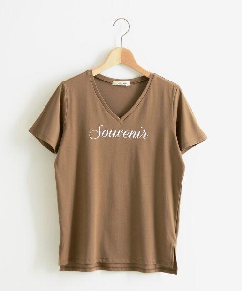 le.coeur blanc / ルクールブラン Tシャツ | VロゴプリントTシャツ | 詳細5
