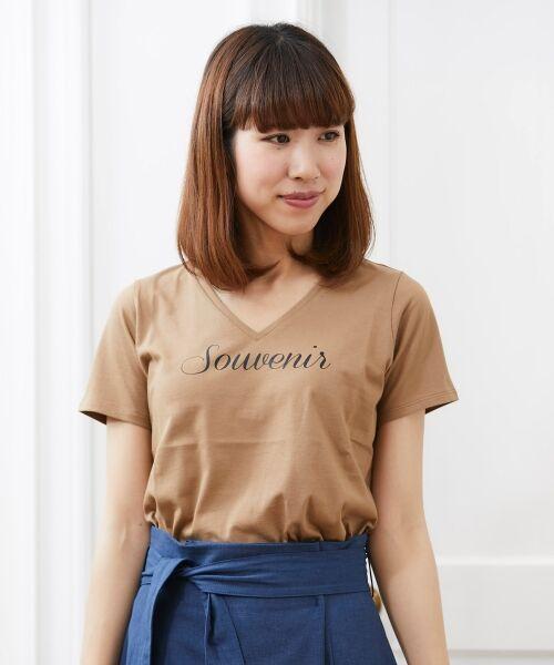 le.coeur blanc / ルクールブラン Tシャツ | VロゴプリントTシャツ | 詳細9
