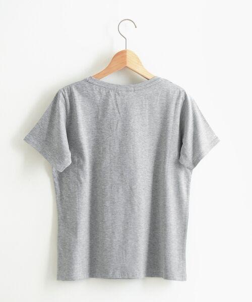 le.coeur blanc / ルクールブラン Tシャツ | クルーロゴプリントTシャツ | 詳細1