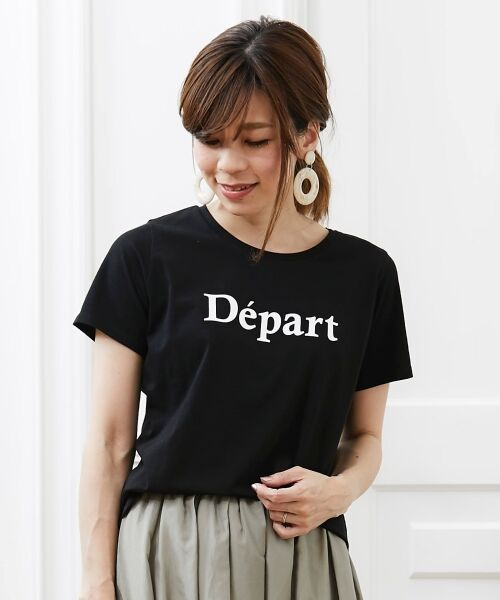 le.coeur blanc / ルクールブラン Tシャツ | クルーロゴプリントTシャツ | 詳細13