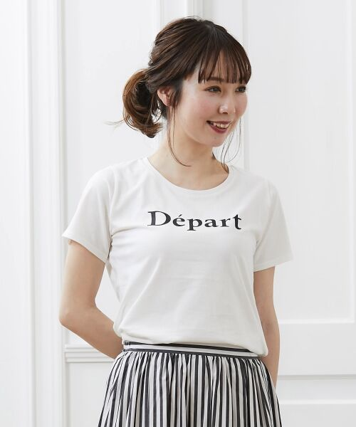 le.coeur blanc / ルクールブラン Tシャツ | クルーロゴプリントTシャツ | 詳細7