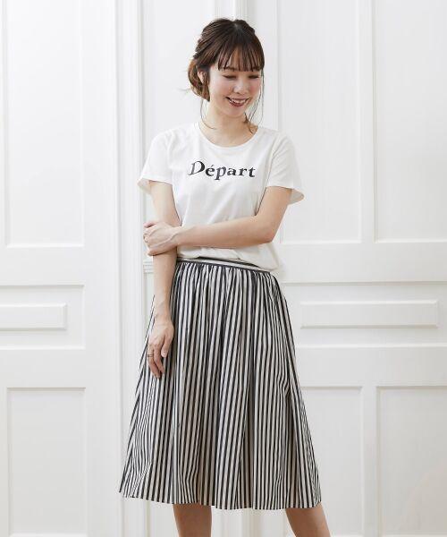 le.coeur blanc / ルクールブラン Tシャツ | クルーロゴプリントTシャツ | 詳細8