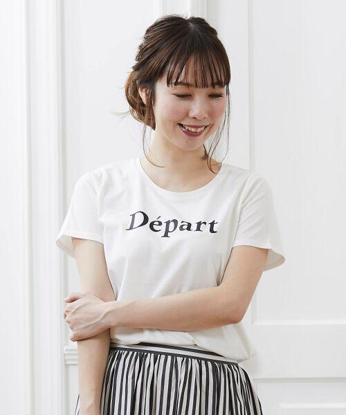 le.coeur blanc / ルクールブラン Tシャツ | クルーロゴプリントTシャツ(オフ)
