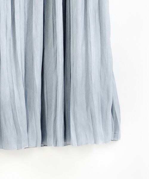 le.coeur blanc / ルクールブラン ロング・マキシ丈スカート   ヴィンテージサテンプリーツスカート   詳細3
