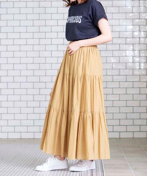 le.coeur blanc / ルクールブラン ロング・マキシ丈スカート | コットンティアードマキシスカート | 詳細9