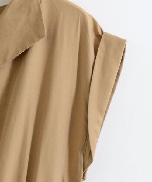 le.coeur blanc / ルクールブラン ロング・マキシ丈ワンピース | オープンカラーフレンチシャツワンピース | 詳細12