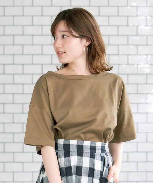 le.coeur blanc / ルクールブラン Tシャツ   BIG Tシャツ(モカ)