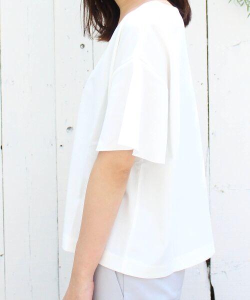 le.coeur blanc / ルクールブラン カットソー   ハートネックフレアープルオーバー   詳細12