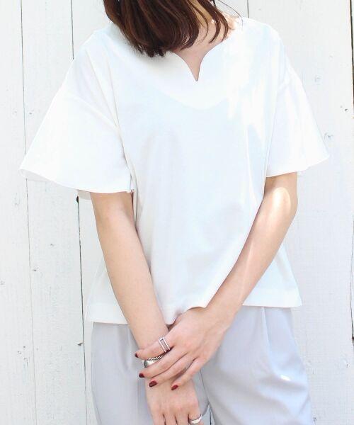 le.coeur blanc / ルクールブラン カットソー   ハートネックフレアープルオーバー   詳細15