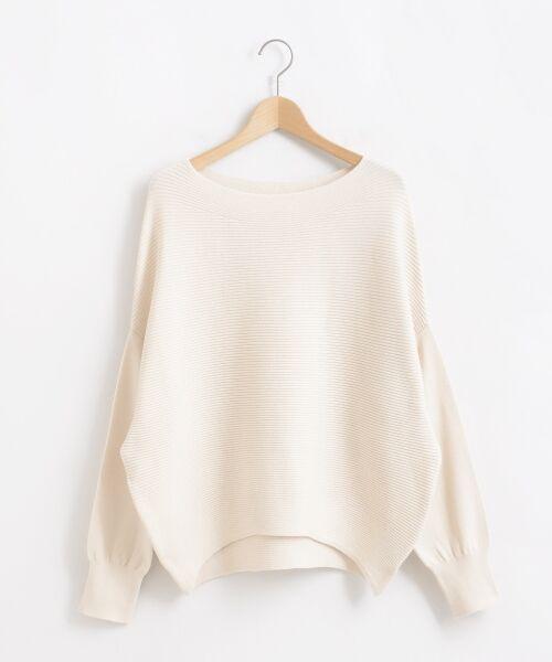 le.coeur blanc / ルクールブラン ニット・セーター | 横リブボートネックコクーンニット | 詳細20