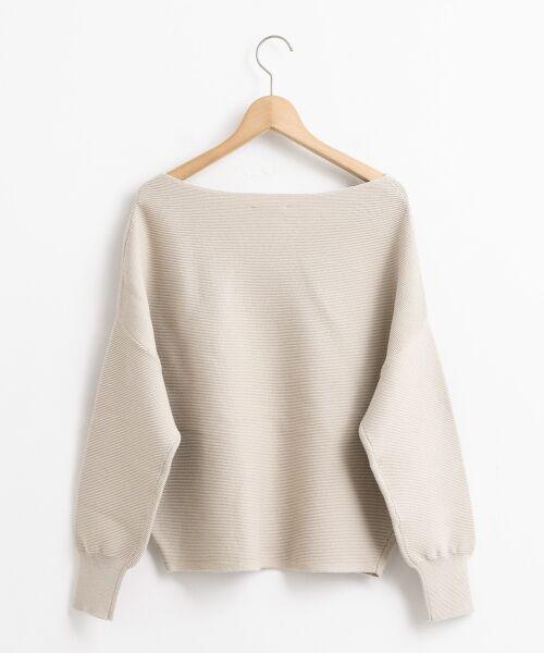 le.coeur blanc / ルクールブラン ニット・セーター | ボートネックコクーン長袖ニット | 詳細1