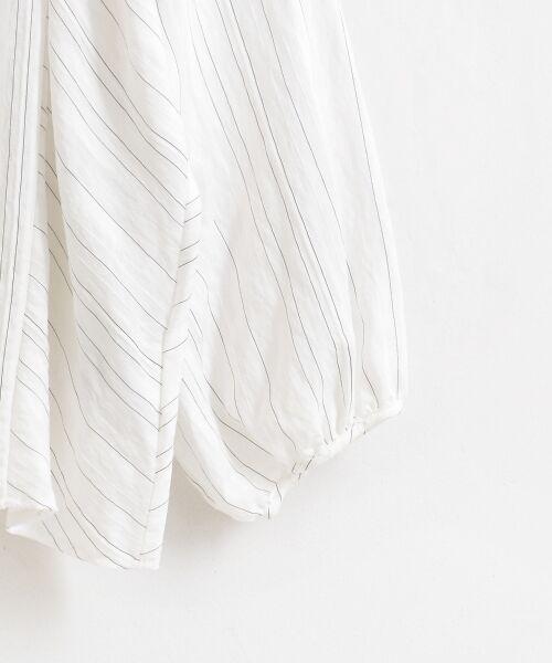 le.coeur blanc / ルクールブラン シャツ・ブラウス | ドビーシアーストライプドルマンブラウス | 詳細3