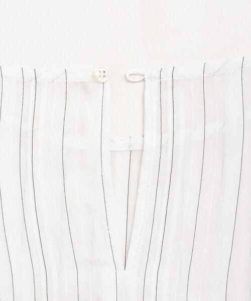 le.coeur blanc / ルクールブラン シャツ・ブラウス | ドビーシアーストライプドルマンブラウス | 詳細4