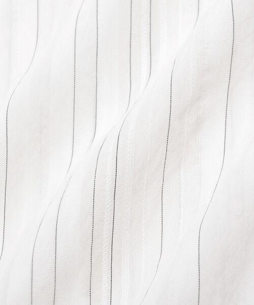 le.coeur blanc / ルクールブラン シャツ・ブラウス | ドビーシアーストライプドルマンブラウス | 詳細5