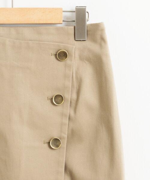 le.coeur blanc / ルクールブラン ミニ・ひざ丈スカート | コットンサテンラップライクタイトスカート | 詳細2